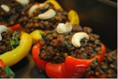 Lentil-stuffed pepper