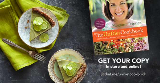 Cookbook advert with lime pie